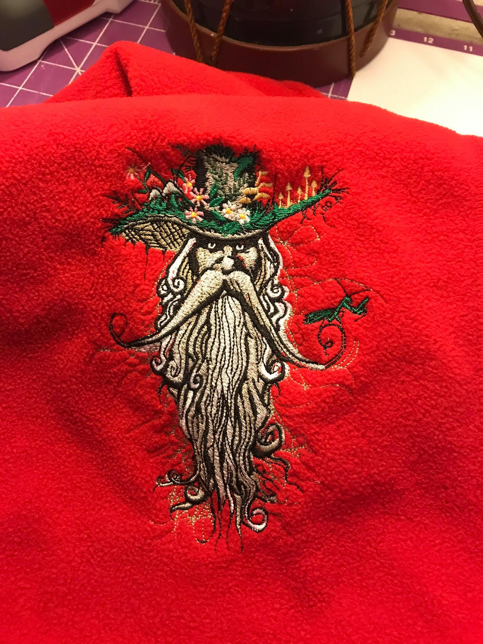 Root man embroidery design