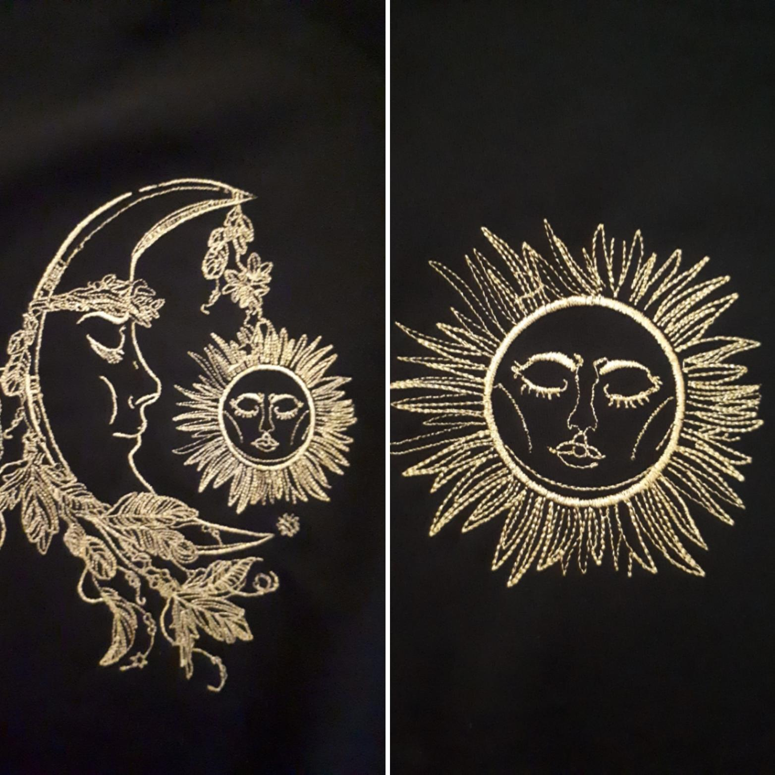 Sleeping moon and sun design