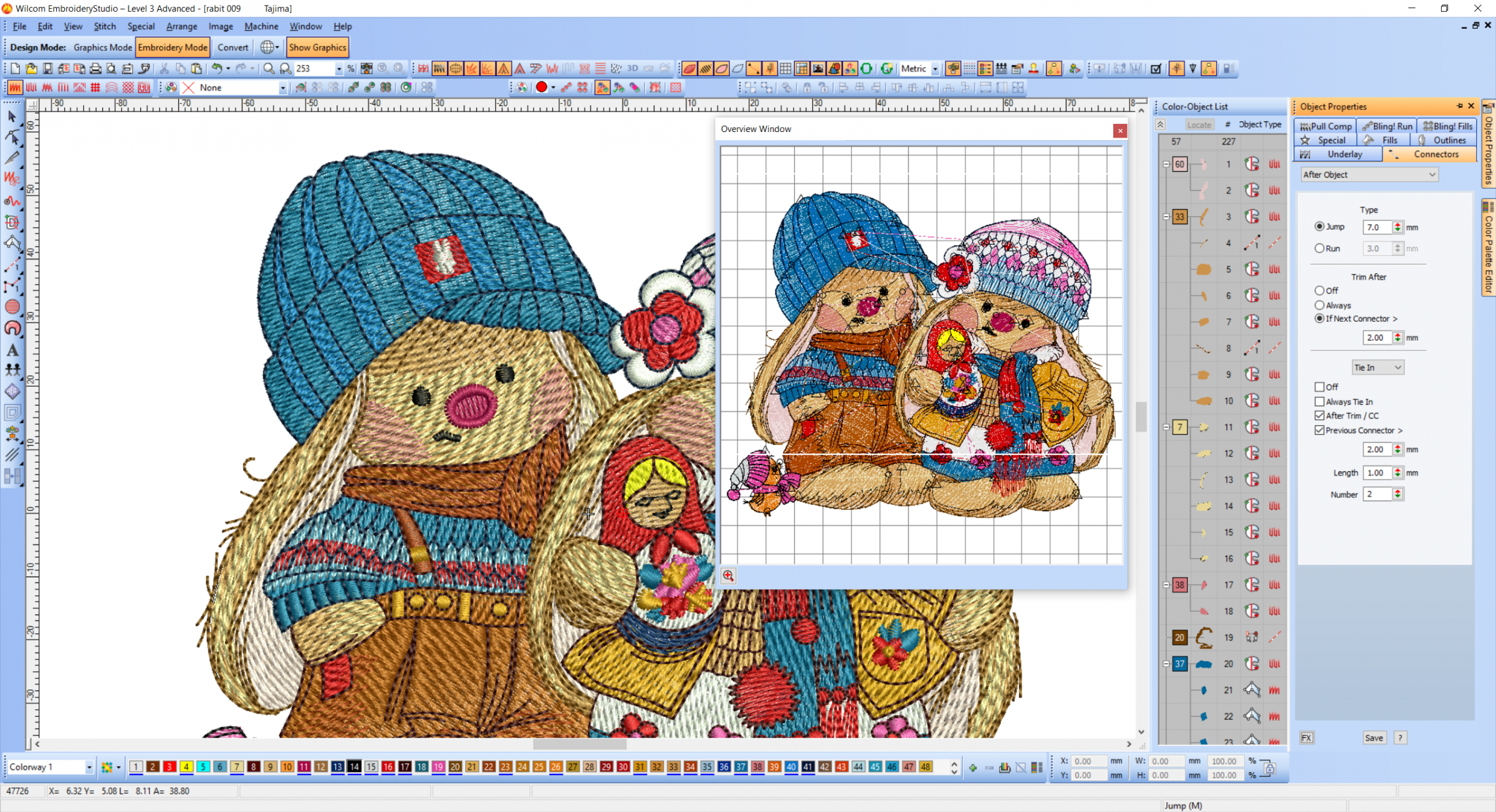 Winter two cute bunnies embroidery design preview now for Embroidery office design 7 5 full