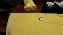 Terry towels with Steelers logo