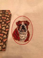 Boxer dog free embroidery design