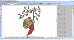 Christmas sock with Teddy Bear embroidery design preview