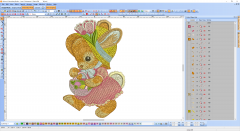 Cute Easter Bunny embroidery digitizing preview
