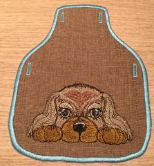 Embroidered kitchen accessory with cute spaniel