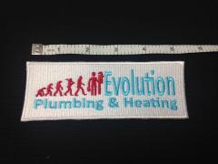 Evolution Plumbing and heating logo embroidery design