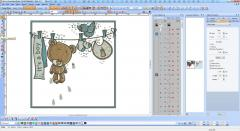 Wilcom screen shot Teddy Bear cute embroidery
