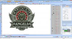California Angels embroidery design