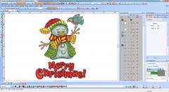 Christmas embroidery design screen shot