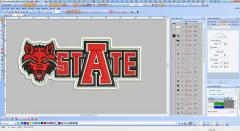 Arkansas Red Wolves logo screen shot