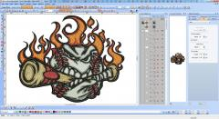 Baseball embroidery screenshot design in Wilcom EmbroideryStudio e1.5
