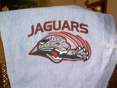 Jacksonville Jaguars logo machine embroidery
