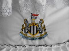Newcastle Football club logo embroidered