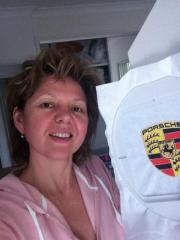 Embroidered Porsche logo