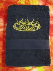 Embroidered towel witl Ford logo