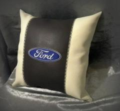 Embroidered pillow with Forrd logo