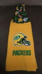 Green Bay Packers logo embroidered at towel