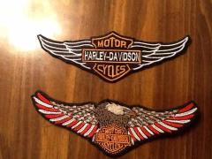 Harley Davidson logotypes embroidered designs