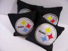 Pittsburgh Steelers logo embroidered at pillow