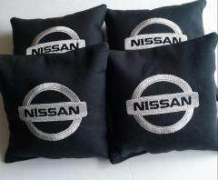 Nissan embroidered pillow