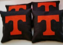 Embroidered pillow with Tennessee Volunteers logo
