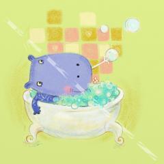 Hippo in bath