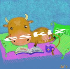 Cow read a book