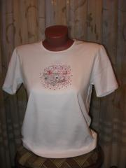 Embroidered shirt with Flying Cat embroidery design