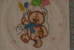 Teddy Bear embroidered variant for quilt