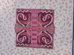 Embroidery with Egyptian symbol for quilt block