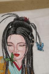 Geisha embroidered variant design