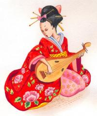 Geisha traditional art