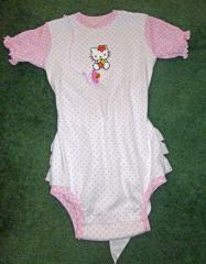 Baby outfit with Hello kitty embroidery design