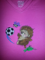 Hedgehog embroidery design