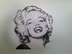 Marilyn Monroe free machine embroidery design