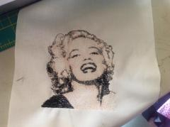My Marylin Monro embroidered cushion covers