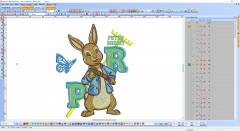 Peter rabbit embroidery design preview
