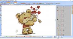 Teddy Bear embroidery design preview software