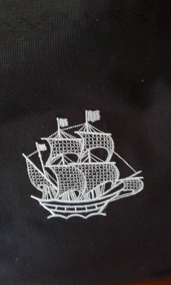 Ship with sails free embroidery design