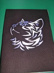 Cat's portrait embroidery design