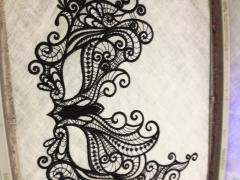 Lace mask embroidery design