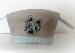 Embroidered bag white terrier