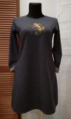 Embroidered dress with Autumn tea free design