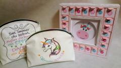 Embroidered girl bag Rainbow unicorn