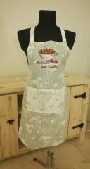 Embroidered apron with plate of cherries free design