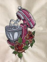 Kneading machine embroidery design