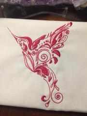 Lace colibri free embroidery design