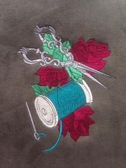 Sewing kit embroidery design