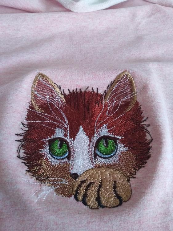 Kitty free machine embroidery design