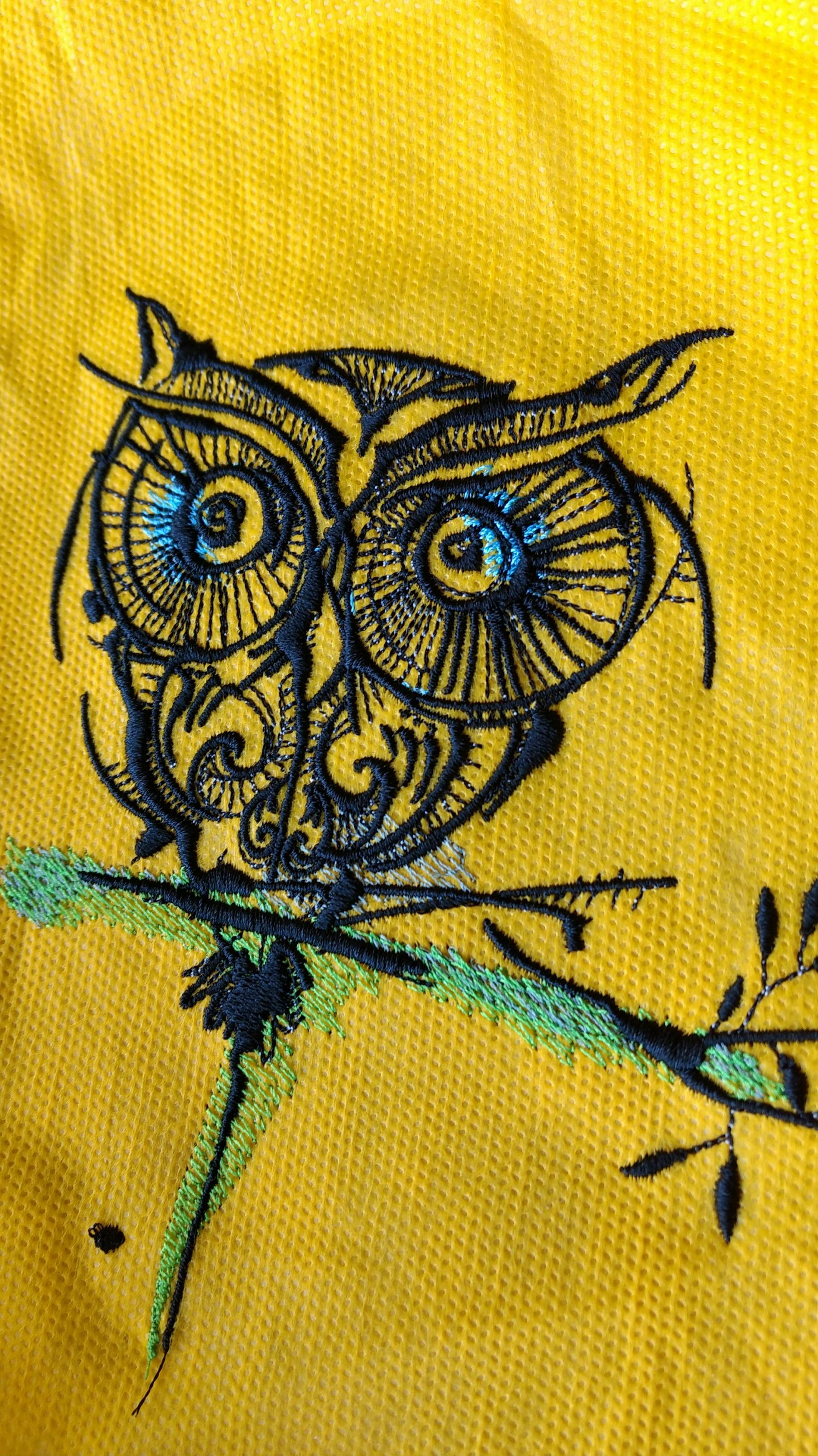 Big Eyes Owl Embroidery Design Showcase With Fauna Embroidery