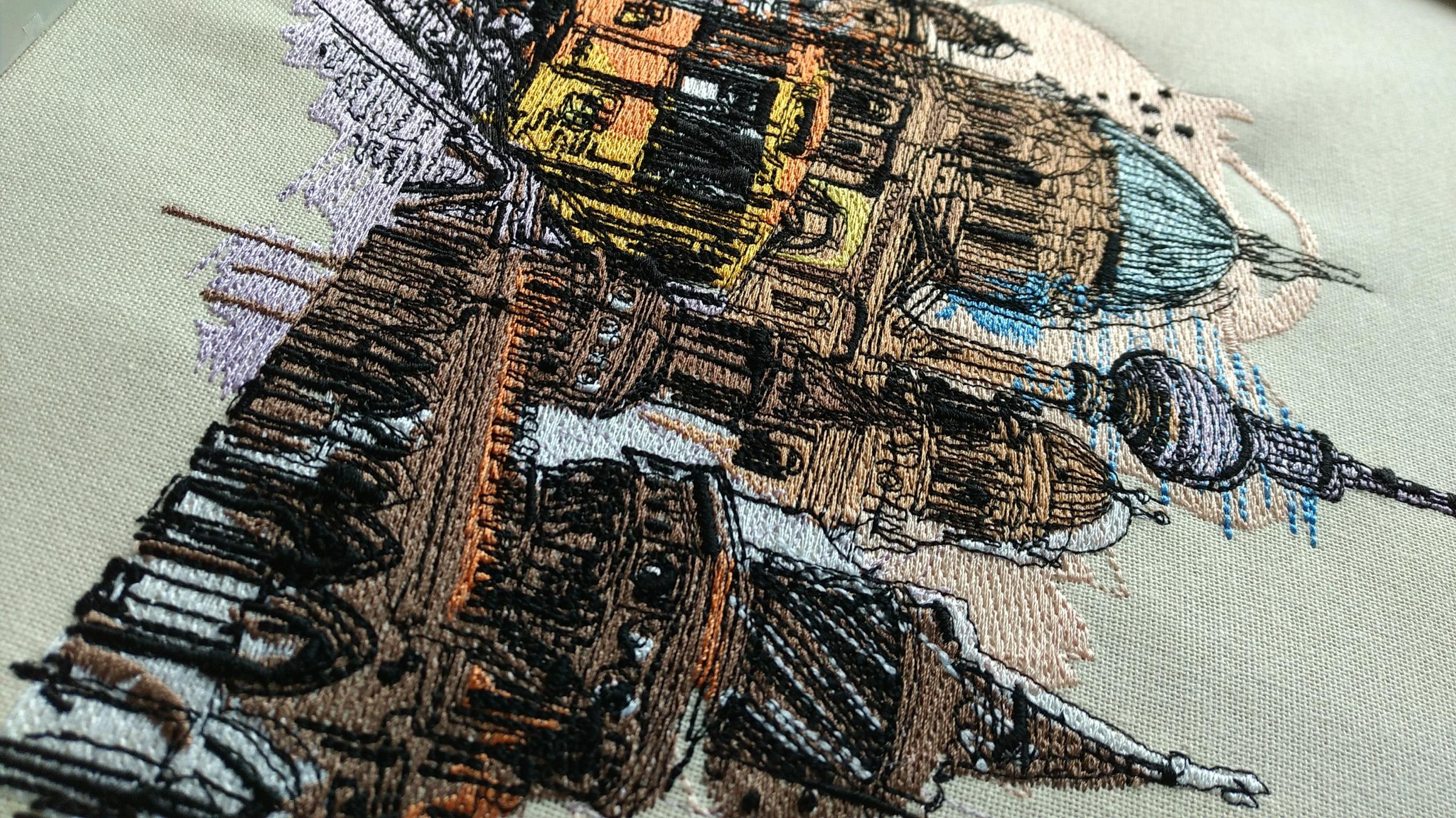Berlin machine embroidery design